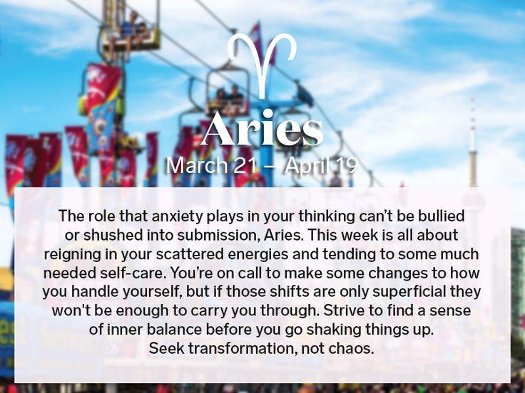 Aries weekly horoscope August 24 – 30, 2016