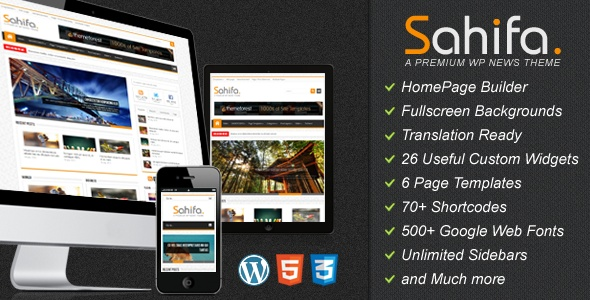 Sahifa is The Clean Responsive Magazine, News and Blog Template .