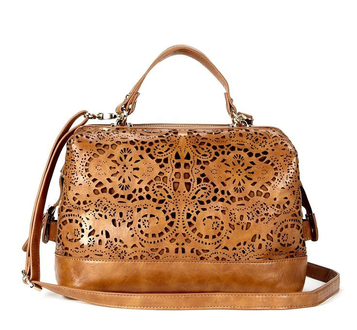 pretty laser-cut satchel