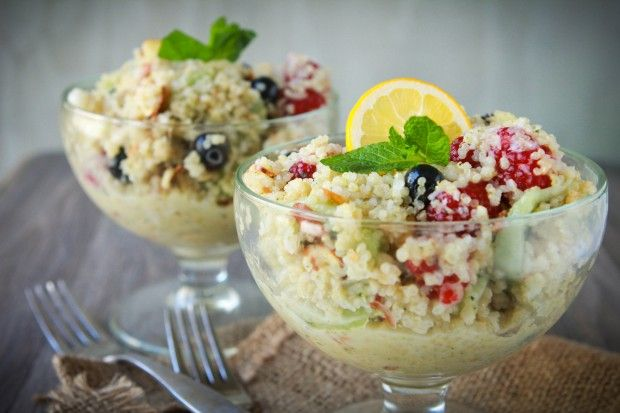 quinoa fruit salad: Desserts Salad, Brown Rice, Fruit Salad, Cooking Quinoa, Quinoa Fruit, Quina Salad, Coconut Oil, Fruit Recipes, Amazing Cooking