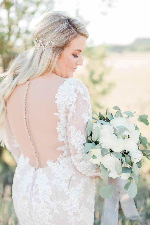 Open back wedding dress  #wedding #weddings #weddinginspiration #engaged #aislesociety #ranchwedding