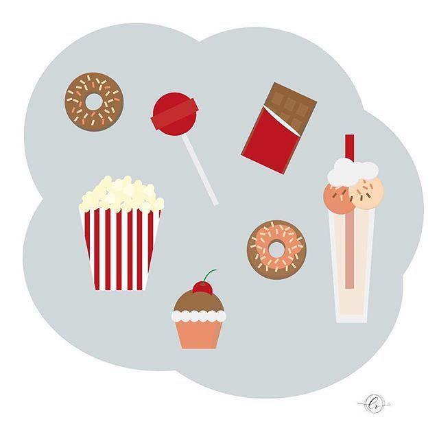 ¡Un dulce no amarga a nadie!  #sweet #chocolate #tardesfelices #illustrator #undulcenoamargaanadie #vector #graphidesign #flatdesign