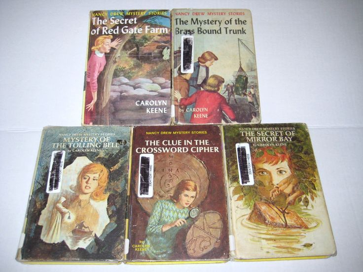 Vintage Lot Of 5 Nancy Drew Mystery S 6 17 23 44 49 Hardcover 1940 1972
