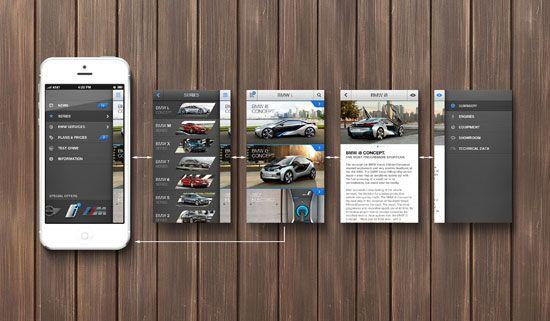 BMW app concept Navigation Inspiration for Mobile UI
