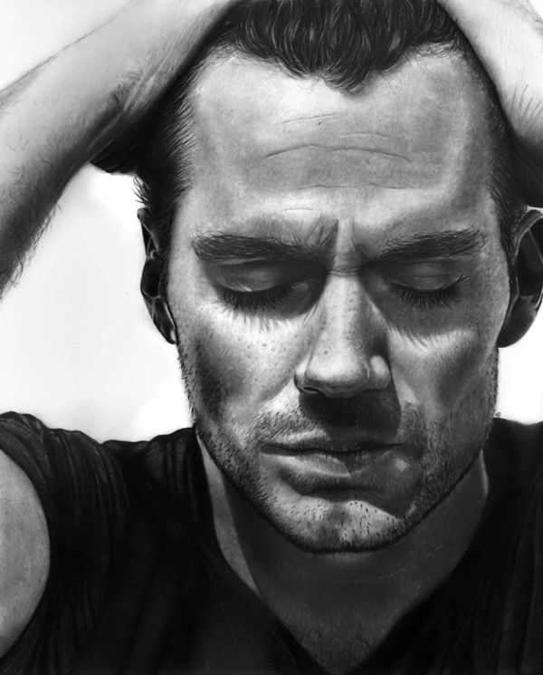 Henry Cavill - A pencil portrait of Henry Cavill. A great thing about pencil portraits is that the monochrome color adds to the dramatic effect which the artist wants to portray on the subject.