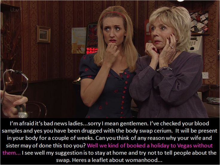 Hollyoaks TG captions: Body swap drug