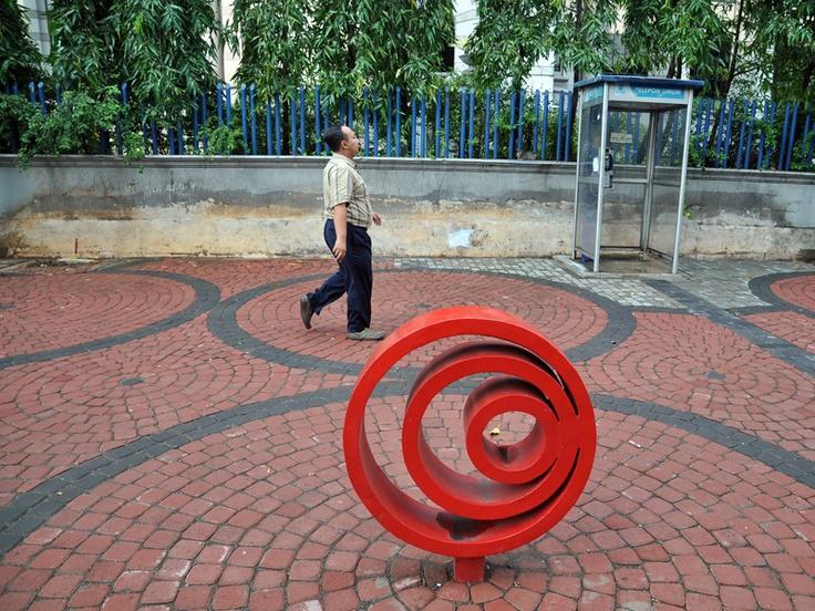 Karya Seni Trotoar kawasan Medan Merdeka Selatan #citarasaseni