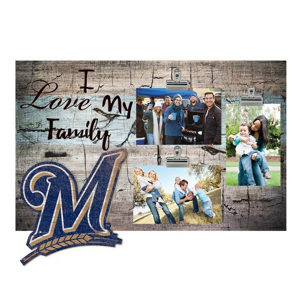 Milwaukee Brewers 11 X 19 I Love My Family Clip Photo Frame Milwaukeebrewers Love My Family How To Show Love Photo Frame