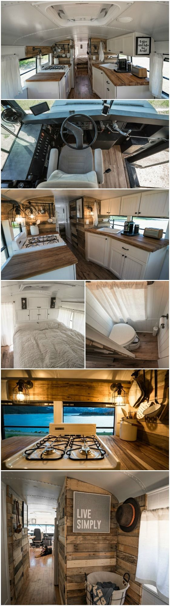 It Used To Be a School Bus … Now It's a Cozy Loft On Wheels! When most of us think of buying a house, we turn to the real estate classifieds—but not Felix Starck and Selima Taibi of Expedition Happiness.