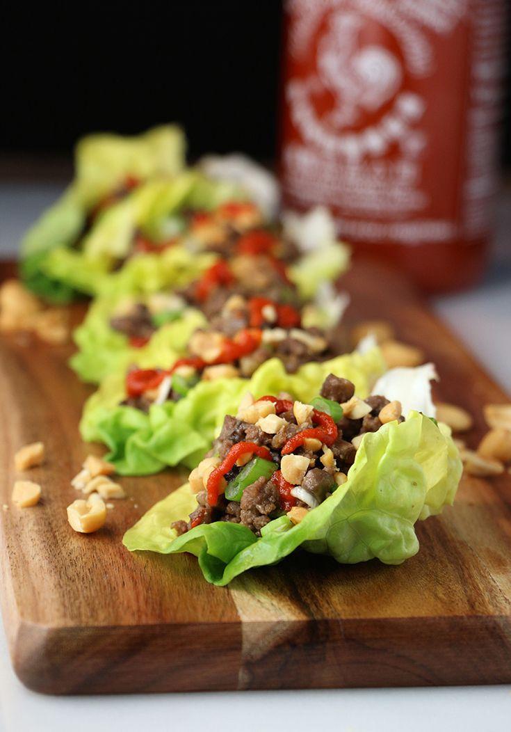 Beef and Mushroom Thai Lettuce Cups