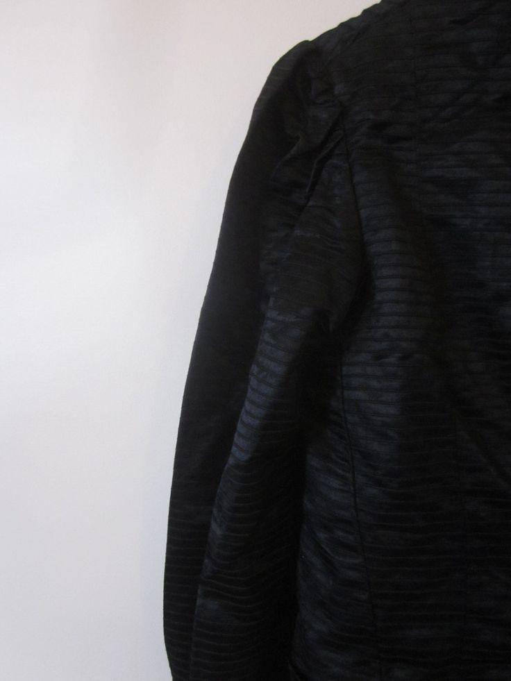 VINTAGE genuine victorian black pleat detail silk mourning top jacket (equiv. sz usa 6/ uk nz au 10/ euro 38) by shopblackheart on Etsy