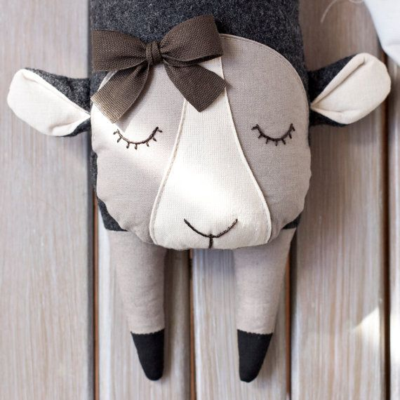Flying Sheep Plush for babies Small Pillow by JoHandmadeDesign