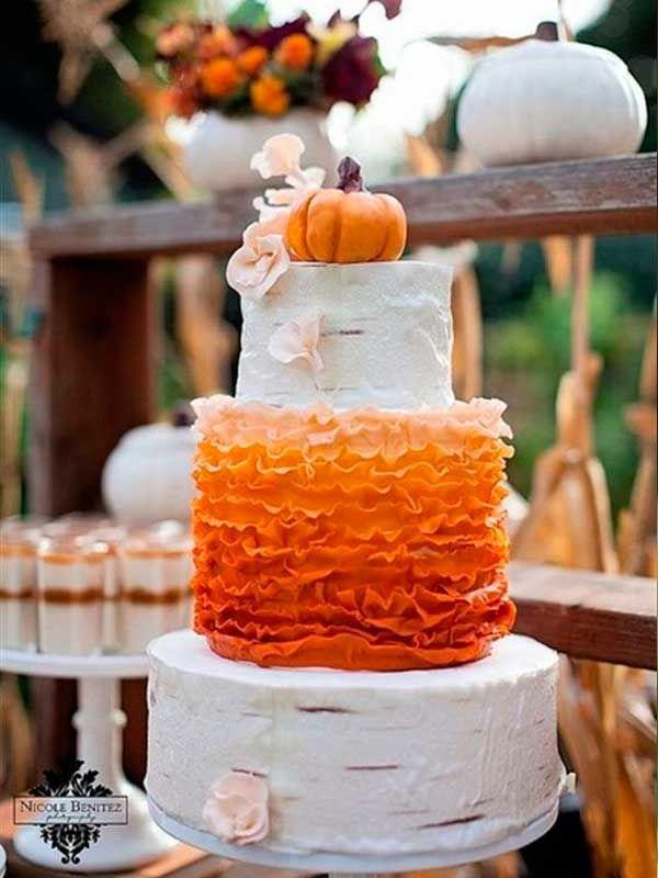 tartas para boda temática de calabaza