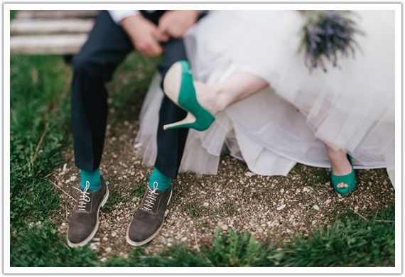 A discreet wedding with scent of lavender - Shoes