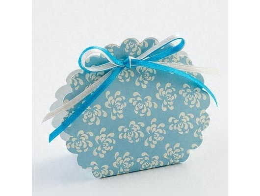 Vintage Blue Scalloped Favour Box £0.49 The Wedding Gift Company