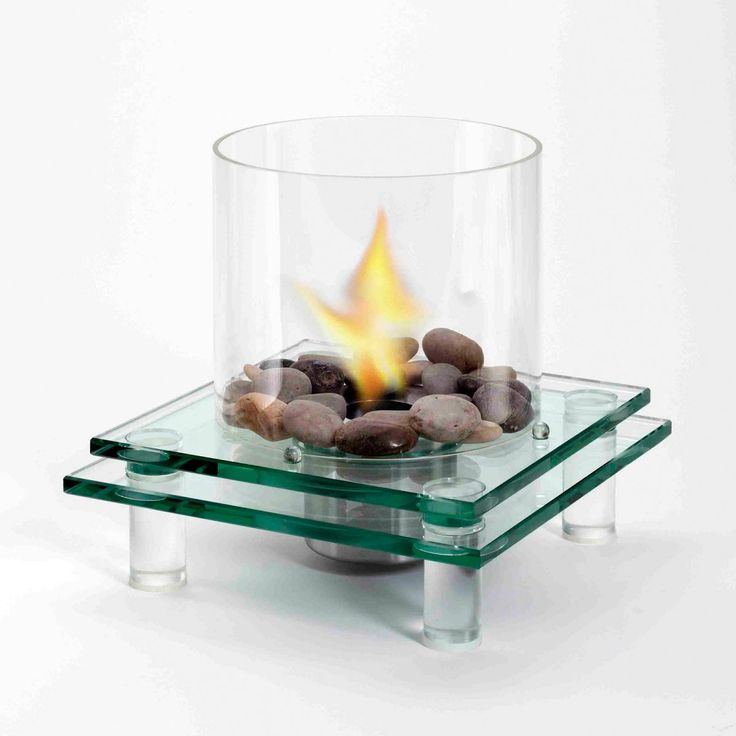 Eco-Flame 2-Tier Glass Eco-Friendly Fireplace Canada online at SHOP.CA - GL-TT252-2