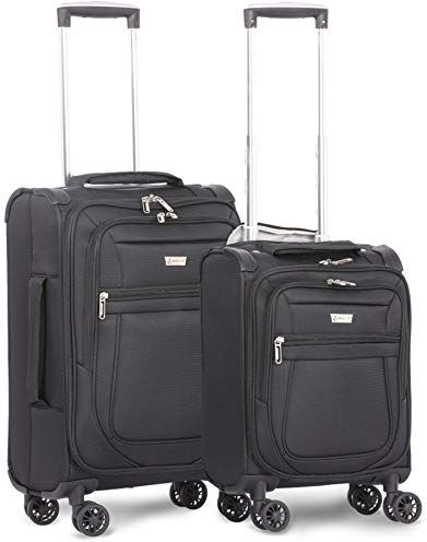 2eec69d3918d Aerolite 21 & 17 Inch Carry On Lightweight 4 Wheel Spinner Suitcase ...