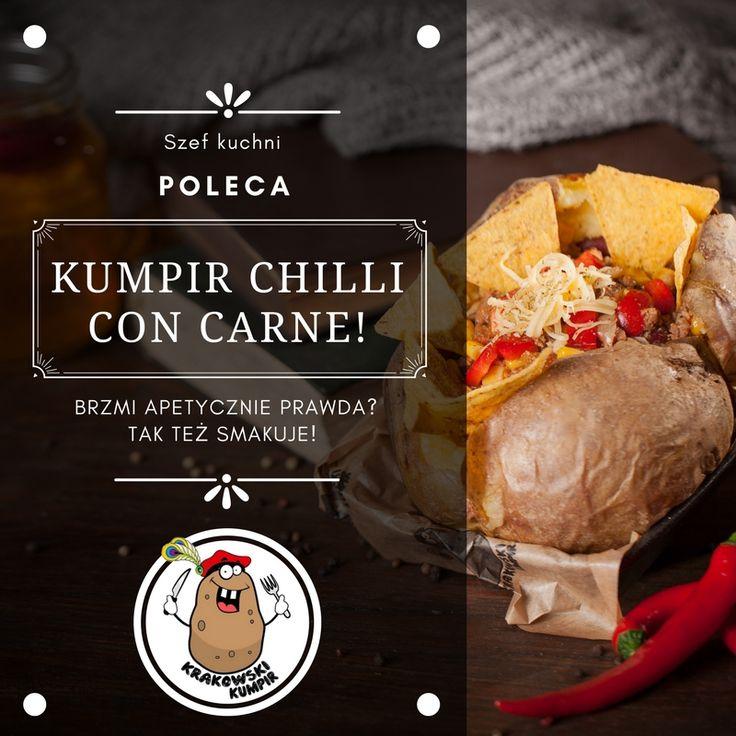 ☛ SZEF KUCHNI POLECA ☚ ☛ Zainteresowanych ZAPRASZAMY na naszą stronę, gdzie znajduje się NASZE MENU, a w nim wiele innych - poza kumpirem Chilli con Carne - propozycji: http://krakowskikumpir.pl/menu/ ☚ ZAPRASZAMY! #krakowskikumpir #kumpir #chilliconcarne #szef #kuchni #poleca #bar #pieczonyziemniak #ziemniak #baked #potatos #kraków #krakow #rzeszów #rzeszow #warszawa #stolica #katowice #polska #googfood #food #jedzenie #zawsześwieże #summer #online #warzywa #mięso #weekend