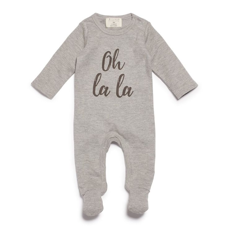 Oh la la, new season wilson and frenchy all in ones! the perfect unisex baby gift, check out our new range of baby clothing, available now! www.wilsonandfrenchy.com.au