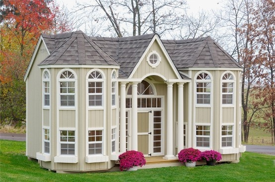 Decadant play house: Plays House, Dream, Grandportico, Grand Portico, Portico Mansions, Outdoor Playhouse, Kids, Mansions Playhouse, Little Cottages