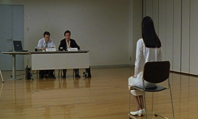 A scene from Audition. Twisted Twins Jen and Sylvia Soska picked the 1999 Takashi Miike film as one of their favourite horror movies.
