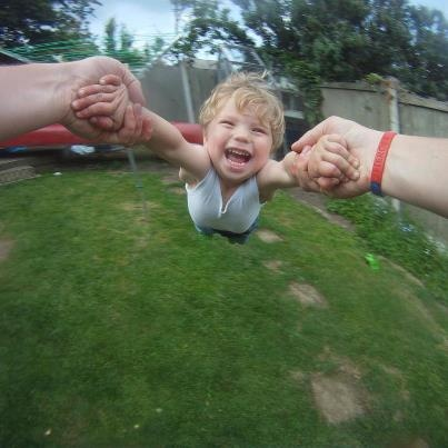 Taken with the GoPro camera.  http://gopro.com/products/