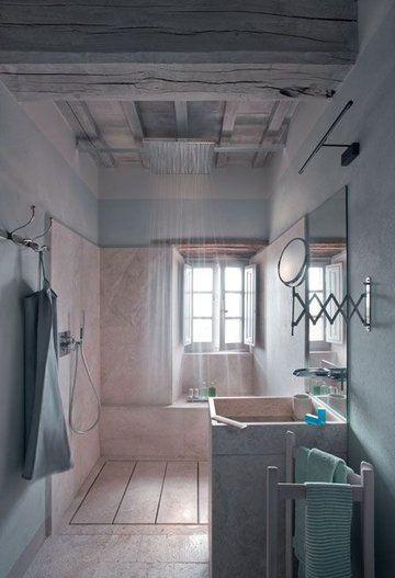 douche à l'italienne ouverte