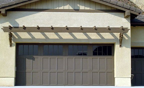 Wood garage doors on a craftsman style home | Garage Door Photo Gallery - Residential www.wayne-dalton.com