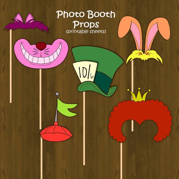 Alice in Wonderland themed Photo Props    INCLUDED: All designs included  * DIGITAL FILE ONLY*
