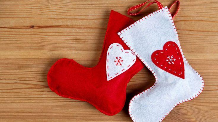 Calcetines de Navidad de fieltro