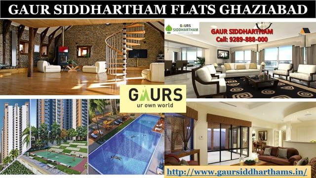 Get the innovative homes for comfort seekers in a marvelous residential project Gaur Siddhartham. The world class residential project has been designed over the most demanding location in Greater Noida West at large campus. It has developed 2/3 BHK apartments with benchmark amenities. For Details Visit: http://www.gaursiddharthams.in/