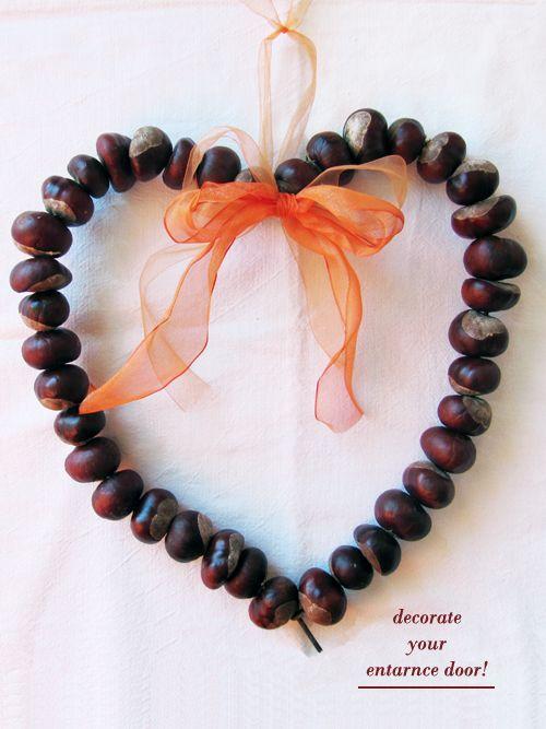 DIY: chestnuts heart