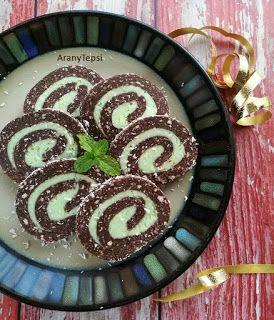 AranyTepsi: Mandulakrémes keksztekercs