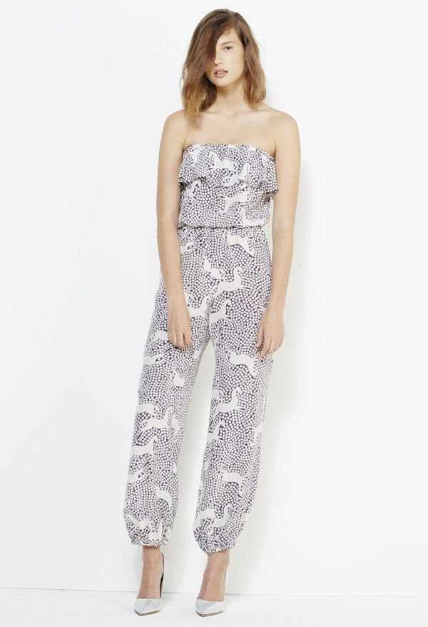 If only I was game enough to wear an all in one jumpsuit! $290 from Yeojin Bae. Horse Print Silk Playsuit