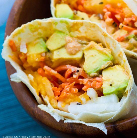 vegan: avocado summer wrap...