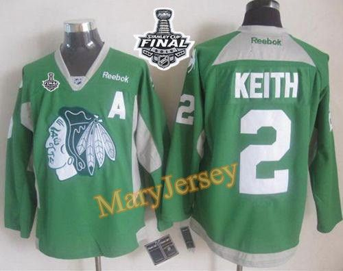 buy blackhawks 2 duncan keith green practice 2015 stanley cup jersey from reliable blackhawks 2 duncan keith green practice 2015 stanley cup jersey