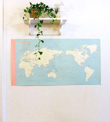 Декоративная карта 'Deco Travel World' - Mint купить в интернет магазине подарков Pichshop: приятные цены, бережная доставка по Москве и России