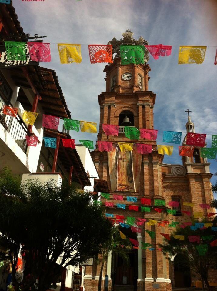 Church of Santa Guadaloupe in Puerto Vallarta near the Malacon