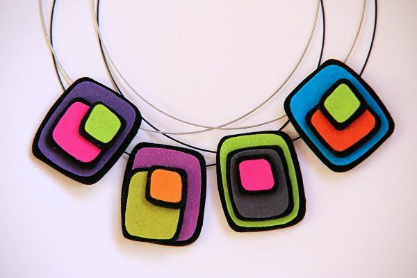 color squares pendants