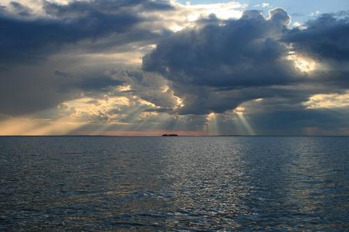 #Oulujärvi lake #evening #sun