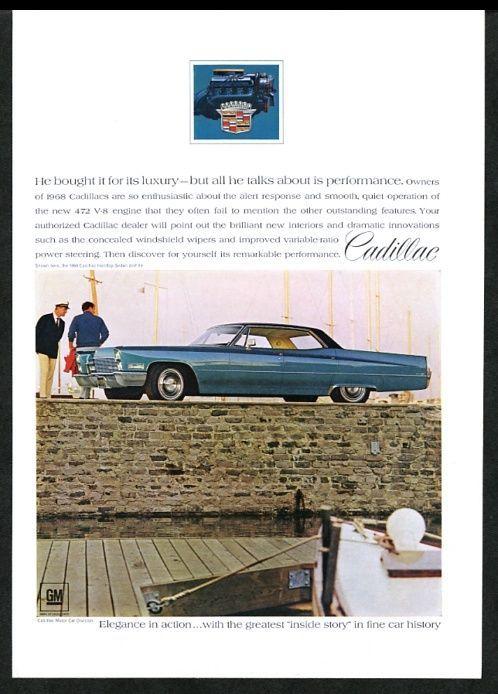 1968 Cadillac blue hardtop Sedan deVille car color photo