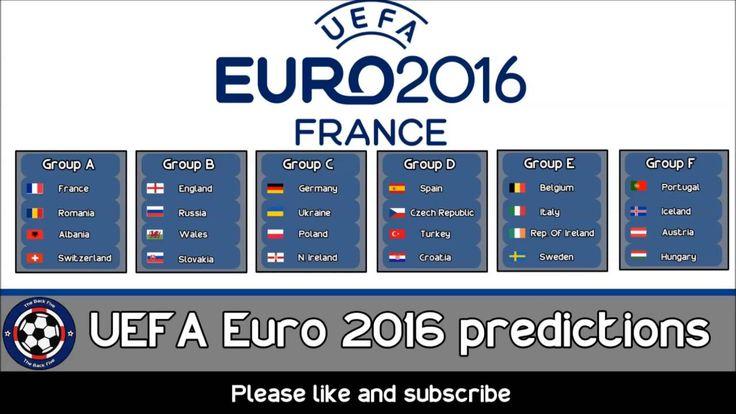UEFA Euro 2016 predictions