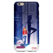 Spider-Gwen Street Shadow iPhone 6 Slim Case. In #SpiderGwen, #MaryJane and #GwenStacy start a rock band called #TheMaryJanes. This design features Gwen Stacy leaning against a wall, with her drums for The Mary Janes next to her and the silhouette of Spider-Gwen behind her.
