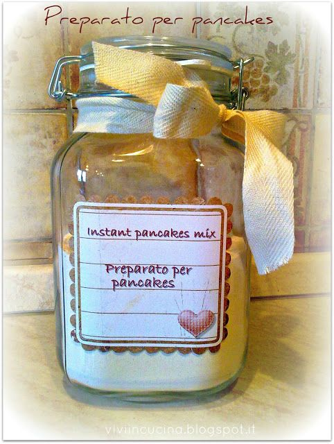 Vivi in cucina: Instant pancakes mix - preparato secco per pancakes