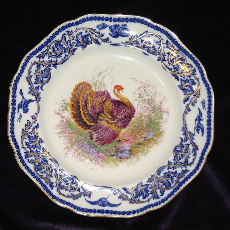 Antique Turkey Plate by Royal Cauldon & 44 best Dishes images on Pinterest | Turkey plates Dishes and Porcelain