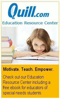From Quill.com Educational Resource Center--  Reaching All Students:This Special Needs Teacher eBook gives educators who work with special needs children a variety of helpful resources in one convenient place. Special needs teachers will find links to grant resources, low-cost teaching tools, apps to help students learn and links to organizations that are devoted to helping special needs children.http://bigdealbook.com/…/bf6086b28-688f-45c2-b2a9-fba0891…/…