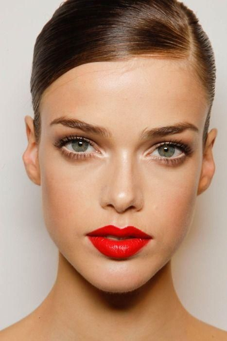 Red lips are always a must.