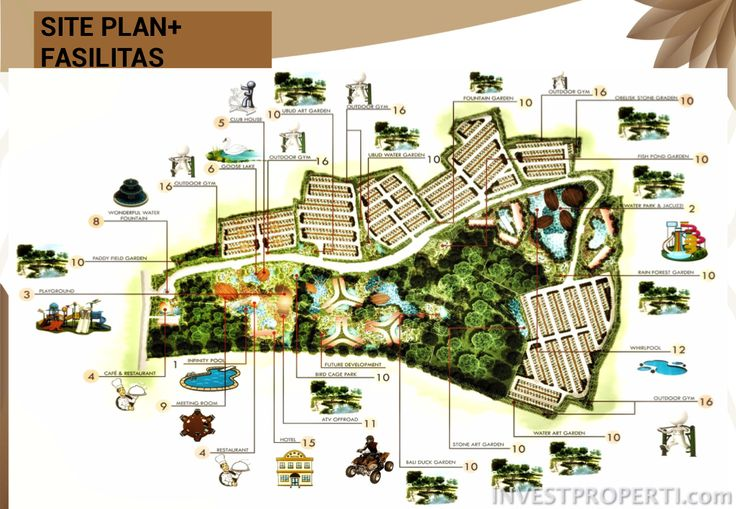 Siteplan + Fasilitas Villa Ubud Anyer