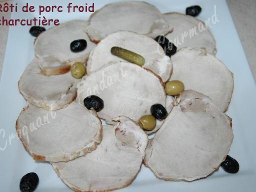 Rôti de porc froid charcutière - Recette de cuisine Marmiton : une recette