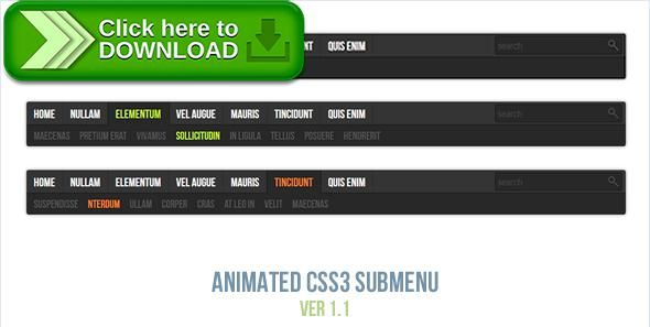[ThemeForest]Free nulled download Animated CSS3 Submenu from http://zippyfile.download/f.php?id=38296 Tags: ecommerce, animated, animated menu, css3 animated, css3 menu, horizontal, horizontal menu, html5 menu, responsive, responsive menu, submenu